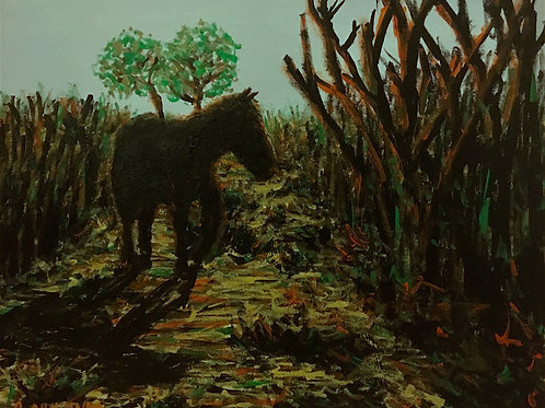 The Wandering Horse, Original Painting