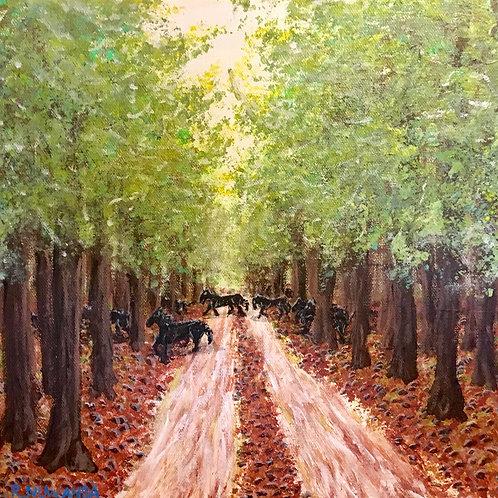 Wild Horses, Original Painting