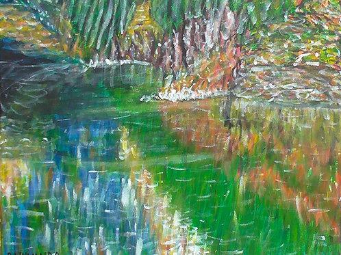 Lake Reflections, Original Painting