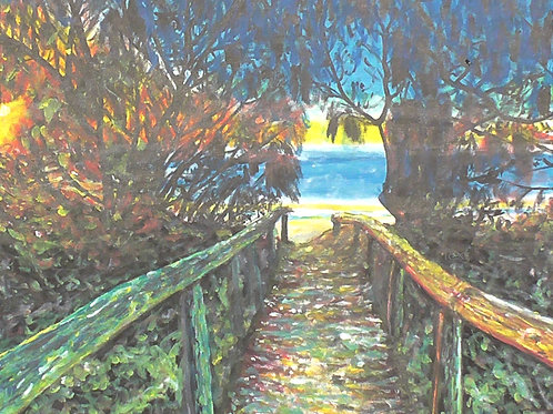 SOLD. Path To Water, Original Painting