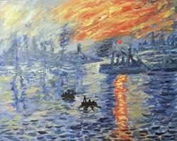 Monet's Impression At Sunset