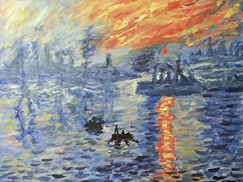 Monet's Impression At Sunset