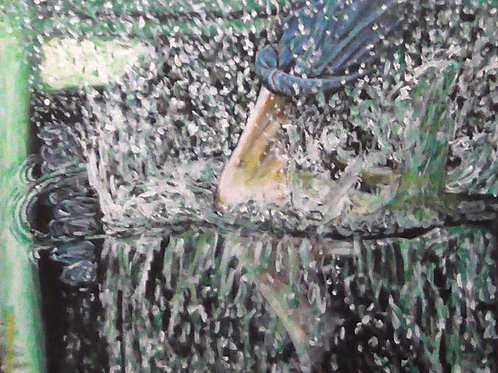 Puddle Stomp, Original Painting