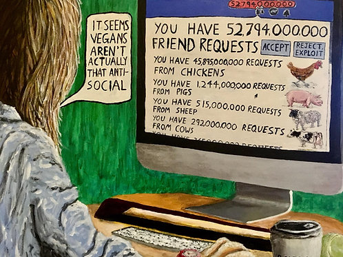 Will You Be Their Friend, Original Painting