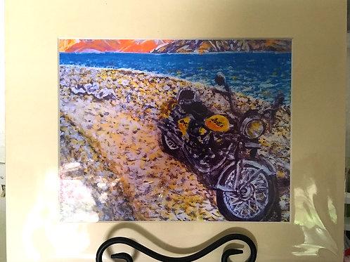 Bike On The Beach Print
