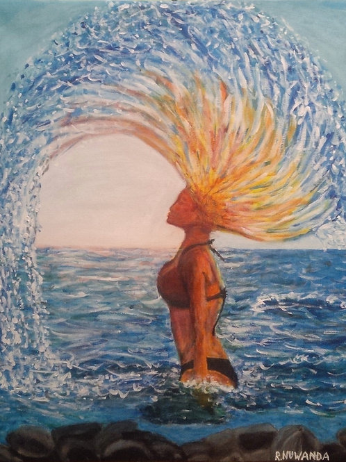 Hair Flick, Original Painting