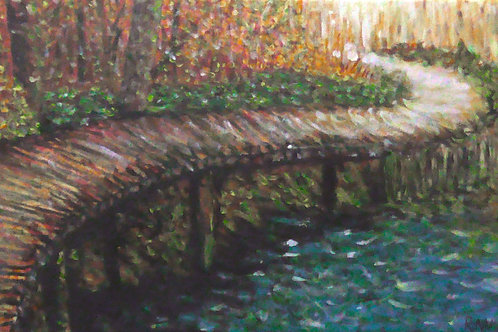 Bridge Over Water, Original Painting