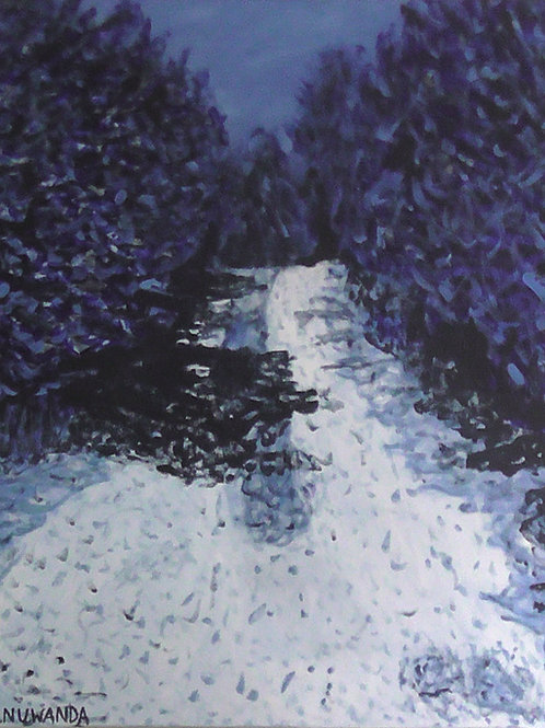 Blue Forest, Original Painting