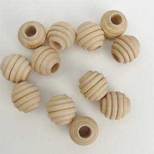 "3/4"" Beehive Wooden Beads"