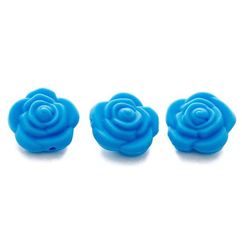 Rose Flower Silicone Beads