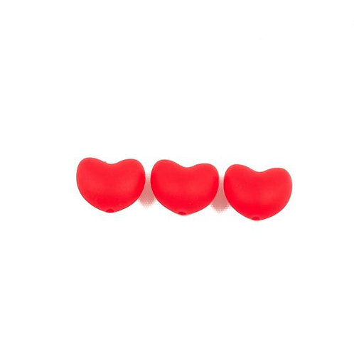Heart Silicone Beads