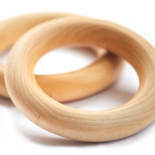 "2.5"" Wooden Teething Ring"