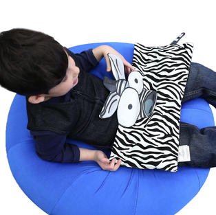 Weighted Zebra Lap Pad