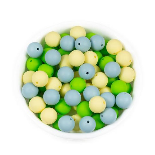 15mm Round Silicone Beads
