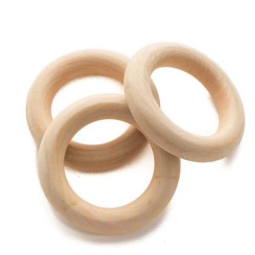 "2.25"" Wooden Teething Ring"