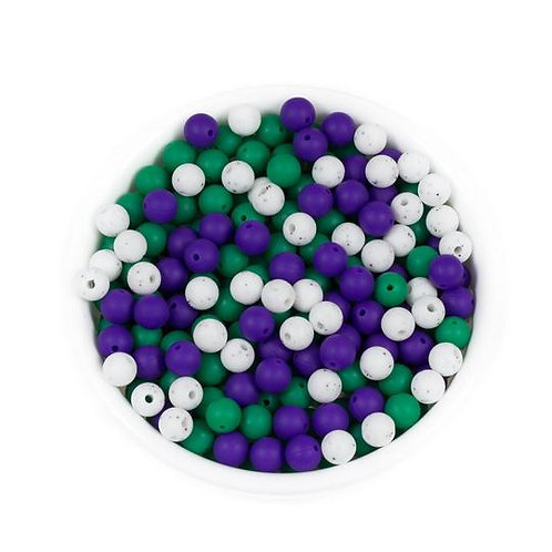 9mm Round Silicone Beads