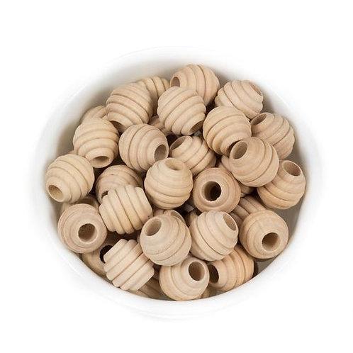 Beehive Wood Teething Bead