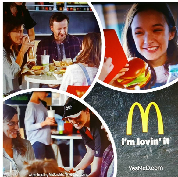 McDonalds national commercial.