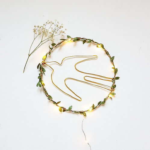 Couronne lumineuse hirondelle