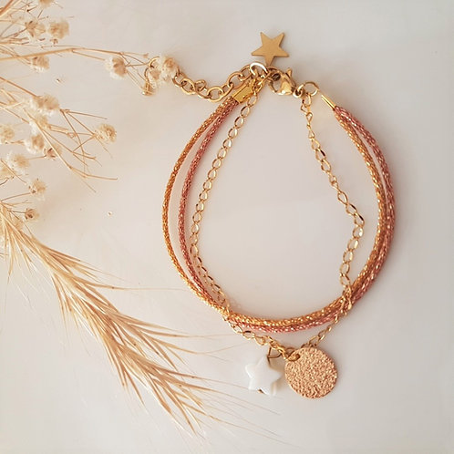 Bracelet grigris multirangs