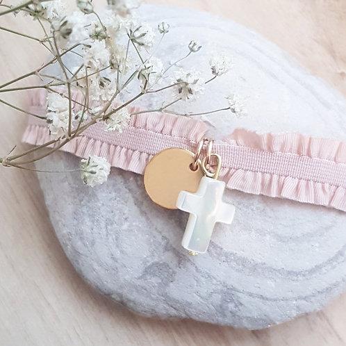 Bracelet Croix Nacre