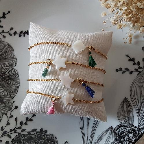 Bracelet  chaîne et nacre