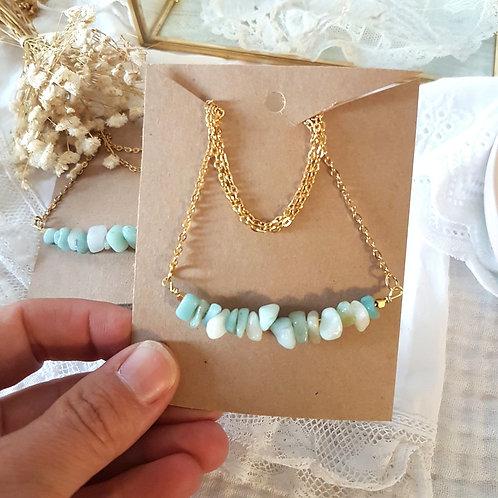 Sautoir perles en pierre