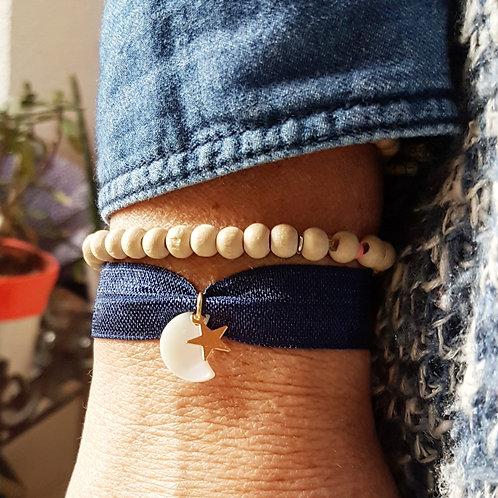 Bracelet élastique lune