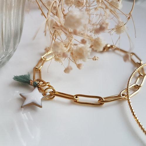Bracelet  chaîne trombone