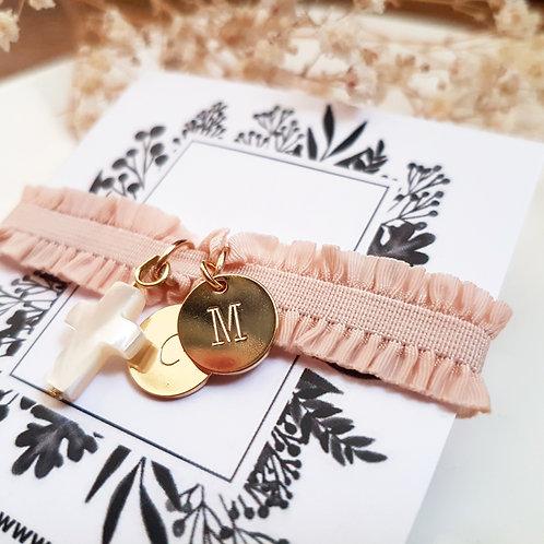 Bracelet élastique initiales