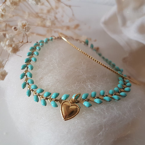 Bracelet  chaîne épi  Coeur