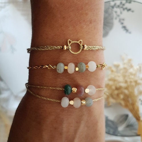 Bracelet  perles cordon