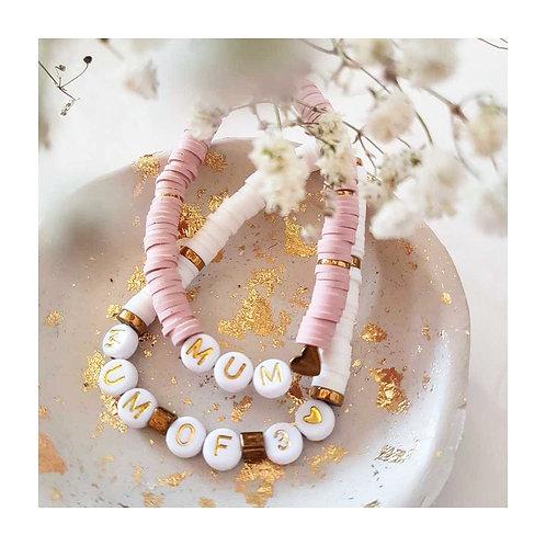 Bracelet mum of ♥ lettres dorées