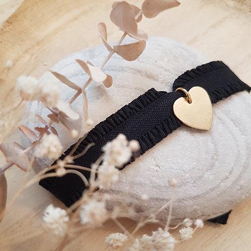 Bracelet élastique coeur