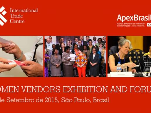 """Aliar é selecionada para participar do """"Women Vendors Exhibition and Forum 2015"""