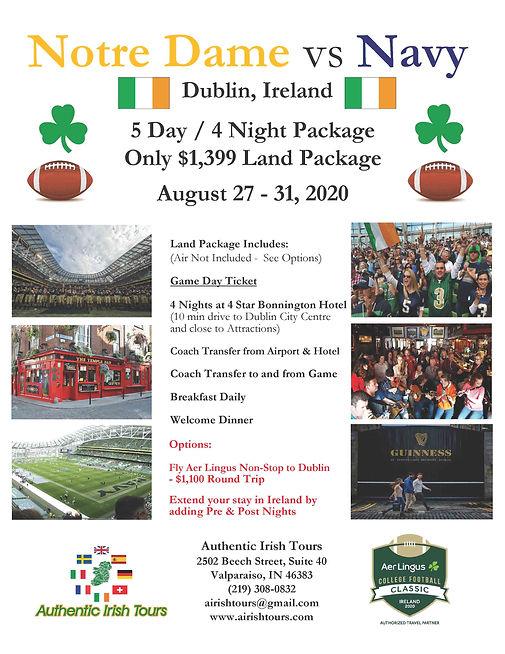 Notre Dame Flyer - $1399 Land