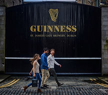 Guinness Gates, St. James Gate, Dublin. Ireland.