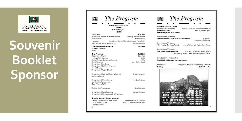 2020 Black History Month Banquet Souvenir Booklet Sponsor