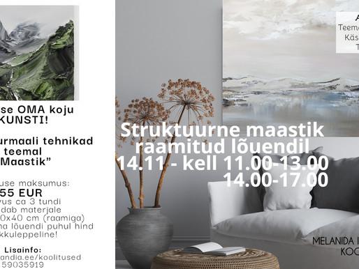 STRUKTUURMAALI KOOLITUS  14.11.2020 - 2 kellaaega!!!