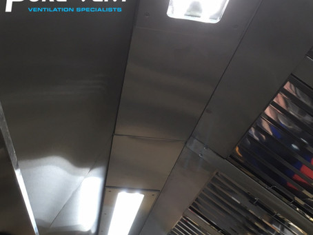 Commercial Kitchen Ventilation Canopy Lighting