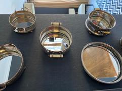 Vintage Silver Framed Mirrors