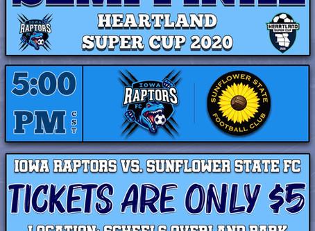 Raptors Set for Heartland Super Cup Finals This Weekend