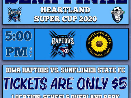 Raptors Set for Heartland Super Cup Finals This Weekend