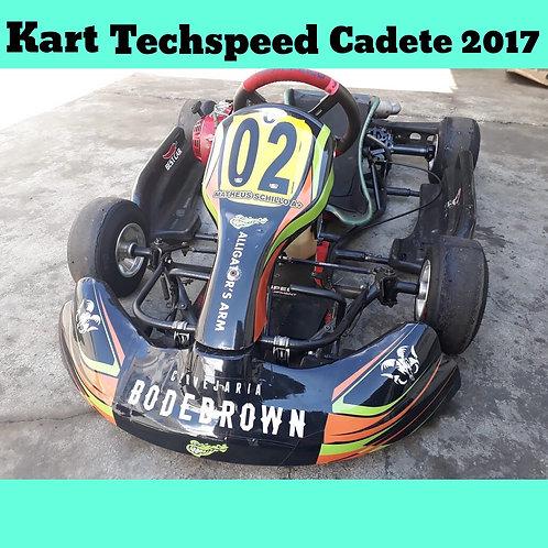 Kart Techspeed Cadete 2017 , com motor Honda 5.5HP