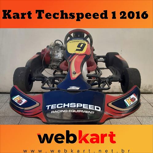 Kart Techspeed 1 2016, com Motor Honda 21HP