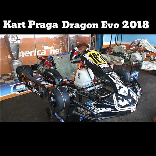 Kart Praga Dragon Evo 2018, com motor Rotax DD2 Novo