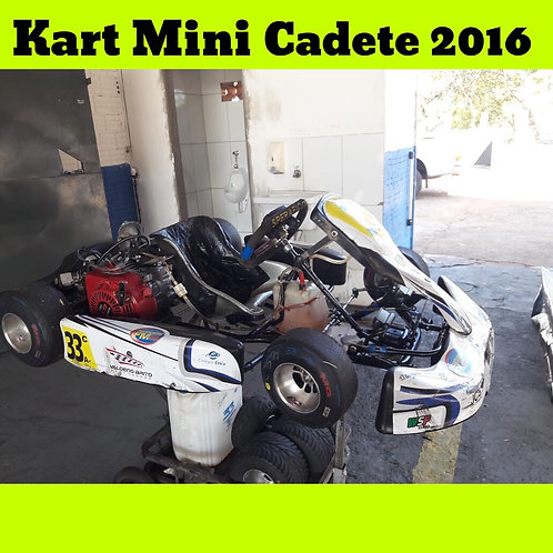 Kart Mini Cadete 2016, com motor Búfalo 6,5HP