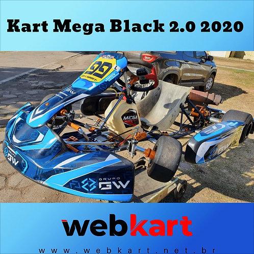 Kart Mega Black Gold 2.0 2020, com motor Honda RBC 18HP + Mychron 4