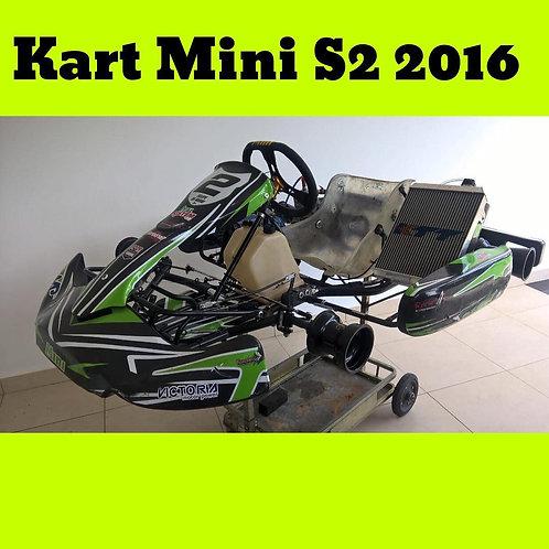 Kart Mini S2 2016, com Motor KTT revisado