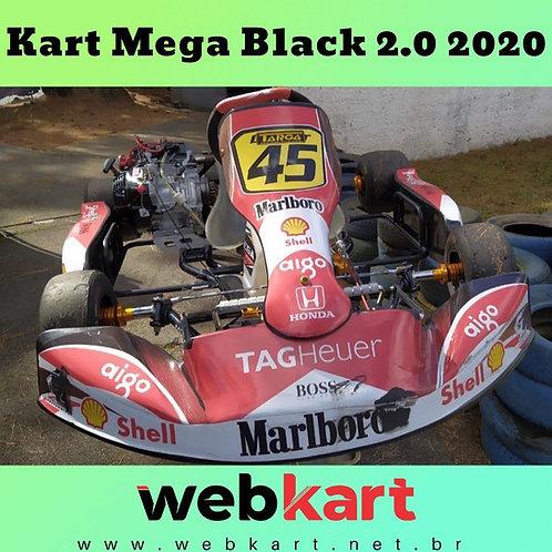 Kart Mega Black 2.0 2020, com motor Fortex G5